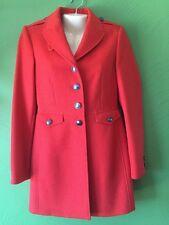NWT BURBERRY BRIT WOMENS WOOL  TWILL DRESS Orange COAT JACKET US 6 40 EU