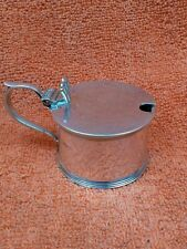 More details for antique sterling silver hallmarked mustard pot & blue liner 1933, s blanckensee