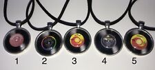 Jewellery- The Beatles Vinyl Or Album cover Glass  Cabochon Necklace(FinkGifts)