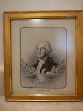 S20 ANTIQUE WOVEN SILK GEORGE WASHINGTON STEVENGRAPH C. 1876 FRANCOIS CARQUILLAT