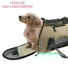 NEW Soft Sided Pet Carrier Airline Travel Cat/Dog Small Animals Tote Bag-Apricot