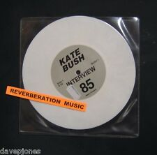 "KATE BUSH 1985 Interview WHITE VINYL UK 7"" Single (BUSH 7)."