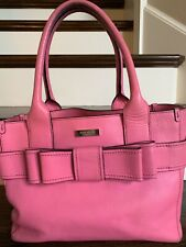 Kate Spade New York Quinn Villabella Leather Handbag With Pink Bow