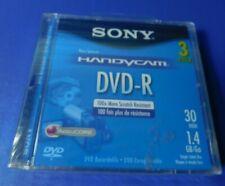 New & Sealed Sony Handycam DVD-R 1.4 GB 30 Min Pack of 3