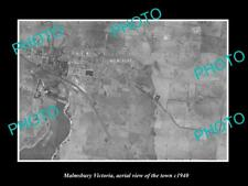 OLD LARGE HISTORIC PHOTO OF MALMSBURY VIC AUSTRALIA, AERIAL VIEW OF TOWN c1940