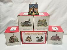 Lot of 7 Liberty Falls Collection Houses 1999 American Collection with Boxes