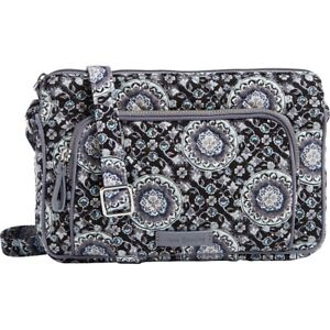 Vera Bradley Iconic RFID Little Hipster - Charcoal Medallion, NWT