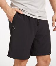 Ohmme eco Warrior II mens yoga shorts Black Green Defence Vegan 2 en 1 Gym Short