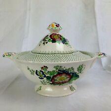 Mason`s Patent Ironstone Fayence Terrine Suppenschüssel Deckel Keramik England