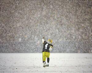 BRETT FAVRE 8X10 PHOTO GREEN BAY PACKERS PICTURE NFL FOOTBALL SNOW TD