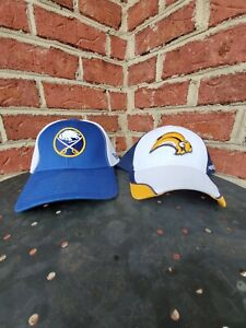 Buffalo Sabres Caps Hats Lot Of (2) New Era Reebok Fitted Hats