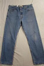 Levi 505 Straight Leg Denim Jeans Fade Zipper Fly Tag Size 36x32 Measure 36x32