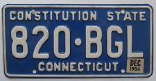 Connecticut 1984 License Plate HIGH QUALITY # 820-BGL