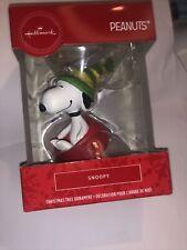 Snoopy dog dish Christmas tree ornament Hallmark Peanuts charlie brown