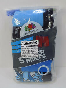 Fruit Of The Loom Boy's 5-Pack Tag Free Moisture Wicking Boxer Brief Underwear