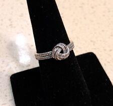 Pandora Sparkling Love Knot Clear CZ Ring #190997CZ +HINGED BOX+POLISH CLOTH+Tag