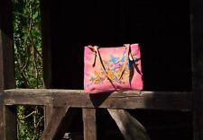 Butterfly Paradise Handtasche Premium Tragetasche Handbemalt Leder