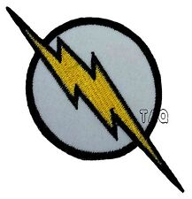THE FLASH lightning bolt logo EMBROIDERED IRON-ON PATCH applique dc comics #28