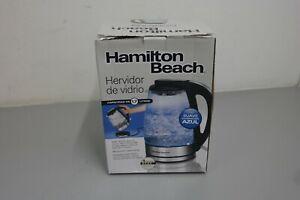 Hamilton Beach 1.7 L Modern Glass Electric Kettle Hot Water & Tea Maker (4A)