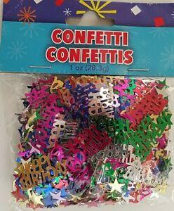 "Metallic ""Happy Birthday"" Confetti, 1 oz/Pk"