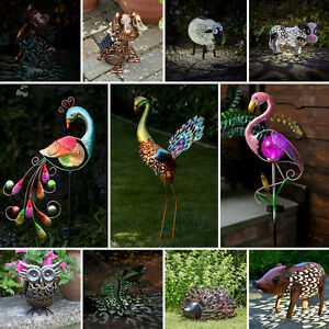 Solar Power Outdoor Garden Novelty LED Animal Light Up Path Ornament Decoration