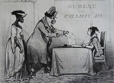 CHAM Amédée de Noé. (1818-1879), lithographie (circa 1850), bureau du Charivari