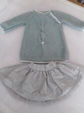 Per bambina Next AGE 3-6 MTH'S DUCK EGG BLUE Maglione e Gonna Tutu/RARA da F&F