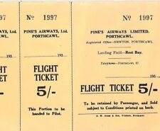 More details for great britain aviation 1930s pine's airways *flight ticket* wales porthcawl bs2