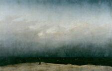 Mönch am Meer Romantik Wolken Strand Nebel Bütten Caspar David Friedrich A3 041