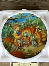 Peter Peter Pumpkin Eater Keepsake Rhymes Collectors Plate Bradford Exchange Coa