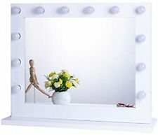 Chende White Hollywood Lighted Makeup Mirror
