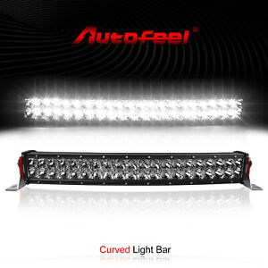 """Curved 22inch LED Work Light Bar Spotlight COMBO Beam Driving 4WD SUV 21"""""""