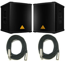 PAIR Behringer B1200D-PRO Active Subwoofer Powered Sub 500W amplified w/2x XLR