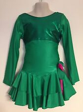 Figure Skating Competition Dress Child S Ice Skate Custom Made Green Pink Small