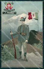 GdF Guardia di Finanza Militari Uniforme cartolina KF0109