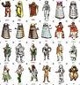 Doctor Who Fridge Magnets - FREE BADGE - 1975 Dr Who, Weetabix, Retro