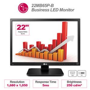 "LG 22"" Business LED Monitor 22MB65P-B 5ms 16:10 1680 x 1050 with USB DVI Swivel"