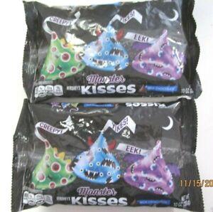 Hershey's Monster Kisses - Milk Chocolate - 10 oz Bag - HALLOWEEN Candy ( 2 BAGS