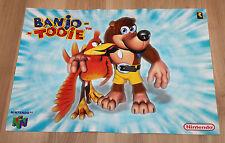 Banjo-Tooie Nintendo 64 / Pokemon very rare small Retro Poster 30x42cm
