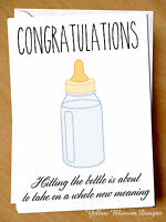 Greeting Card Congratulations New Baby Joke Funny Cheeky Quirky Humour Comical