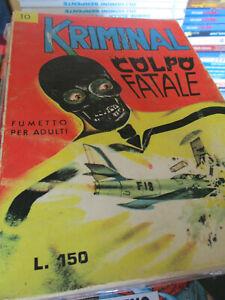 Kriminal n. 10 - Edizione originale Febbraio 1965 150 lire - Editoriale Corno