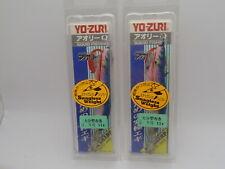 2pcs Yo-zuri Eging Squid Calamari Fishing Jig #2.5 A1030-11 Blue Hook B2