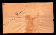 Willie Howard (d.1949) Signed Cut 3x5 Index Card Autor I'm Telling You
