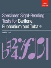 ABRSM Tuba Specimen Sight Reading Tests, Grade 1-5 - Same Day P+P