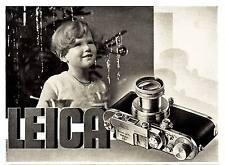 1938 Leica Kamera Kind Puppe Christbaum 16x13 cm original Printwerbung