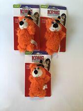New listing Kong Softies Premium Catnip Orange Halloween Bear Plush Crinkle Toy Lot Of 3
