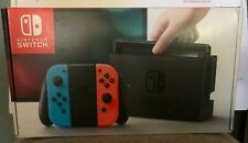 Nintendo Switch Neon Red/Blue Console Box w/ Manuels & Power Adapter Type G UK