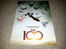 "THE 100 PP CAST SIGNED 12""X8"" A4 PHOTO POSTER ELIZA TAYLOR BOBBY MORLEY"