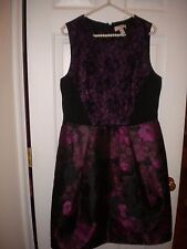 Lovely by Adriana Papell black & purple special occasion sleeveless dress NWT 14