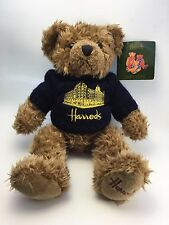 Harrod's Knightsbridge Teddy Bear Sweater Silhouette Blue Plush Gift Collect (B)